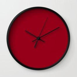 Heidelberg Red - solid color Wall Clock
