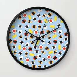 All About Sushi Pattern Art Sky Wall Clock