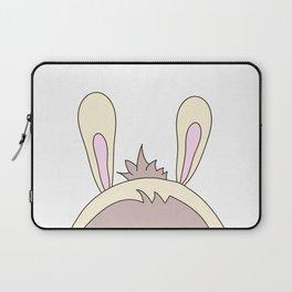 Cute little birdie wearing bunny ears Laptop Sleeve