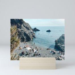 Secret beach in Levanto, Italy Art Print   Italy Photography Mini Art Print