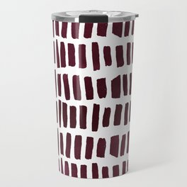 Artistic modern burgundy watercolor brushstrokes Travel Mug