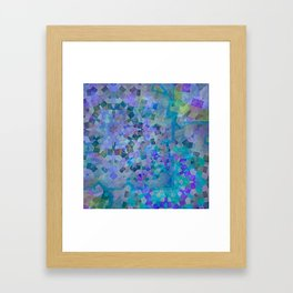Mosaic in Turquoise Framed Art Print
