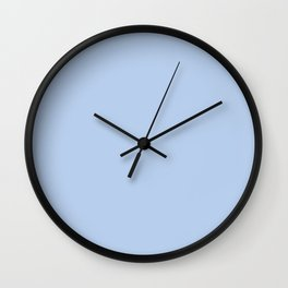 Solid Angel Blue Pastel Simple Solid Color All Over Print Wall Clock