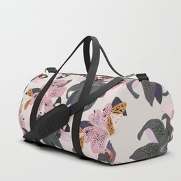 Lilies and butterflies insects Duffle Bag