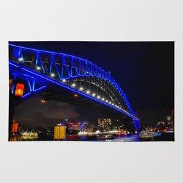 Blue Harbour Bridge Rug
