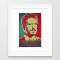 political Framed Art Prints featuring Political Stark by NKlein Design