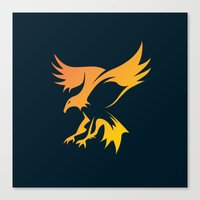 phoenix Canvas Prints featuring Phoenix by Dale J Cheetham