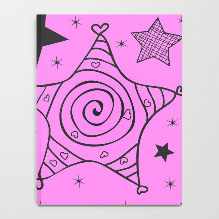 Stars are AMAZING in pink too Notebook