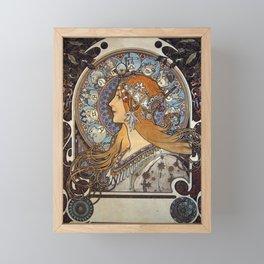 Alphonse Mucha - The Zodiac, a cover for La Plume Magazine (1897) Framed Mini Art Print