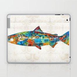 Fish Art Print - Colorful Salmon - By Sharon Cummings Laptop & iPad Skin