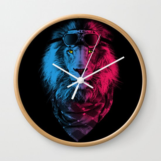 lion rider Wall Clock