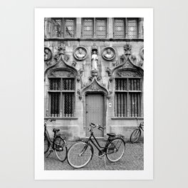 Bruges in Black & White Art Print