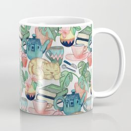Lazy Afternoon - a chalk pastel illustration pattern Coffee Mug