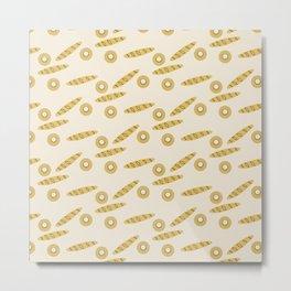 Bread Pattern Metal Print