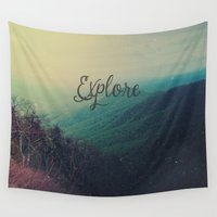 explore Wall Tapestries featuring Explore by Olivia Joy StClaire