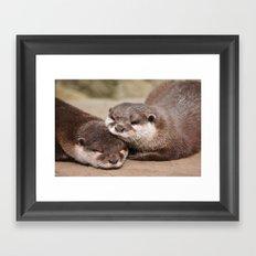Otters 1 Framed Art Print