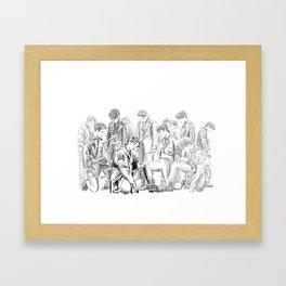 Seventeen Getting Closer Group Sketch Framed Art Print