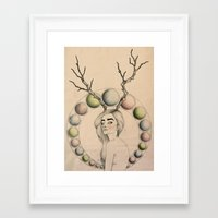 dazed and confused Framed Art Prints featuring Dazed & Confused by Emelia Taveras
