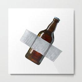 Beer Tape Metal Print