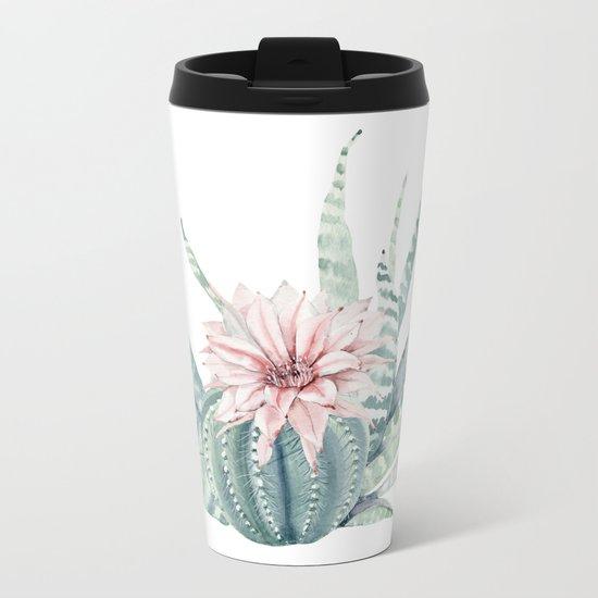 Petite Cactus Echeveria Metal Travel Mug