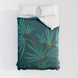 Night Palm / Night Scene Series Comforters