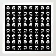 Heart Skulls Art Print