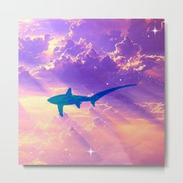 Air Shark Metal Print