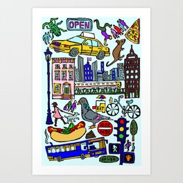 City In Color Art Print