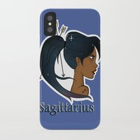 sagittarius iPhone & iPod Cases featuring Sagittarius  by Jo Sharp