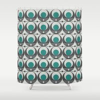 music notes Shower Curtains featuring Moon Notes by Capital Knight