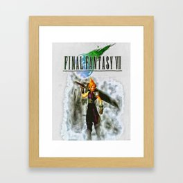 Cloud Strife Final Fantasy 7 Framed Art Print