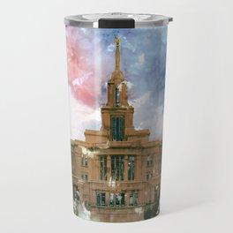 Payson LDS Temple Watercolor Photo Travel Mug