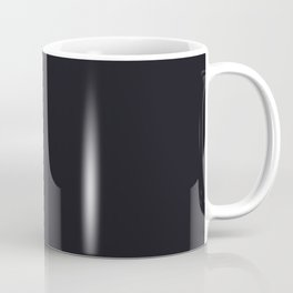 Swimming Lesson ~ Almost Black Coordinating Solid Coffee Mug