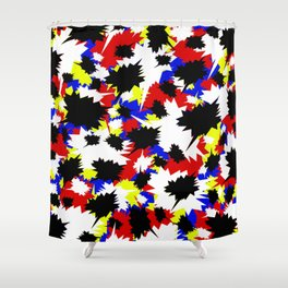 COMIC BOOK PATTERN Shower Curtain