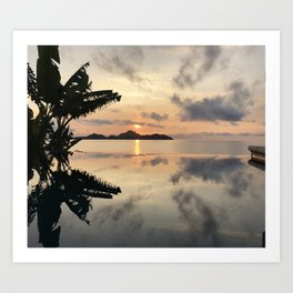 Sunset over Water Art Print
