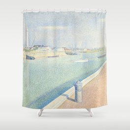 Georges Seurat - The Channel of Gravelines Shower Curtain