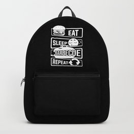 Eat Sleep Barbecue Repeat - Grill BBQ Smoker Backpack