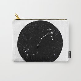 Scorpio black and white star chart zodiac star signs minimal decor Carry-All Pouch