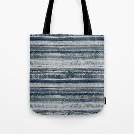Expressive Indigo Watercolor Stripe Tote Bag