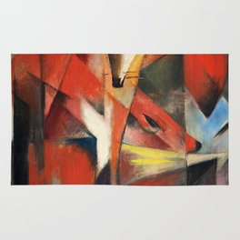 """Franz Marc """"The foxes"""" Rug"""