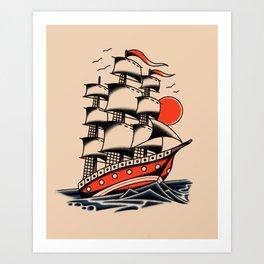 American traditional boat Art Print