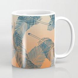 Blue Feathers Pattern Coffee Mug