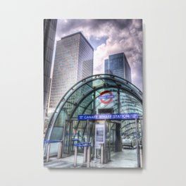 London Tube Station Metal Print