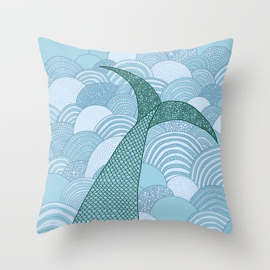 Mermaid Throw Pillow by Anita Ivancenko Society6