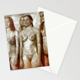 Nudist Girs by Mary Bassett Stationery Cards