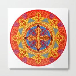 Mandala Inner Fire / Original Art Metal Print