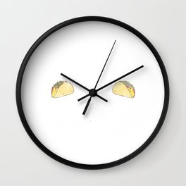 Flute and Tacos Funny Taco Band Distressed Wall Clock