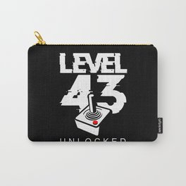 Birthday Gift Level 43 Unlocked Classic Gamers Carry-All Pouch