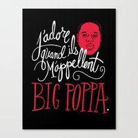 damask Canvas Prints featuring French Poppa by Chris Piascik