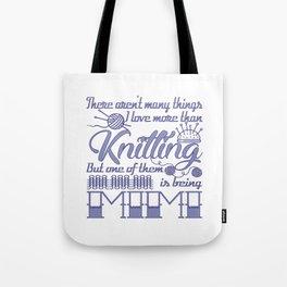 Knitting Mimi Tote Bag